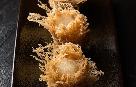 Deep-fried Taro Puff with Scallop