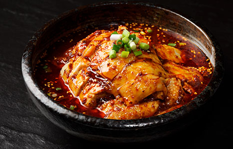 Chong Qing chillied chicken with spicy bean paste